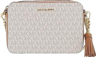 حقيبة جيني الطويلة المارة بالجسم من الجلد للنساء من مايكل كورس