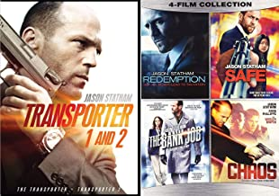 5 Statham Movie Collection Transporter 1 & 2 + Bank Job / Chaos / Safe & Redemption [DVD] Feature 6 Film Jason Pack Crime Action Set