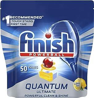 Finish Quantum Ultimate Dishwasher Tablets, Lemon, 50 count