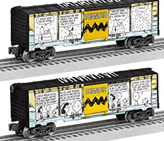 Lionel 684678 Peanuts Comics Art Winter Boxcar, O Gauge, Yellow, Blue, black, White
