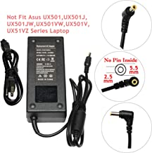 Qiouzw 19V 6.32A(6.3A) 120W AC Adapter Charger for ASUS Rog GL502VT GL502V GL502 Q550LF N550JV N56V GL551JM GL771JM R700VJ N550 N550JX X550JK G50 N53 ZX50JX;ADP-120ZB BB PA-1121-28 Power Supply Cord