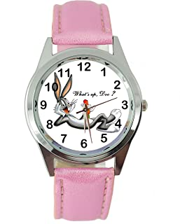 TAPORT Bugs Bunny Quartz Watch Disney Leather Band + Spare Battery + Gift Bag