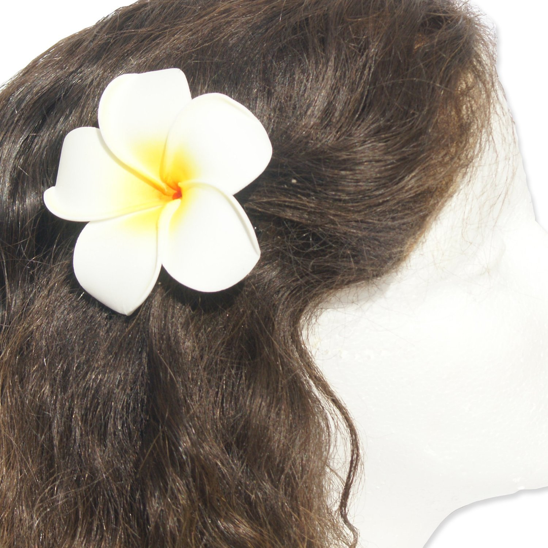 Max 61% OFF DreamLily Women's Fashion 3 Pcs Hawaiian Max 52% OFF F White Plumeria Flower