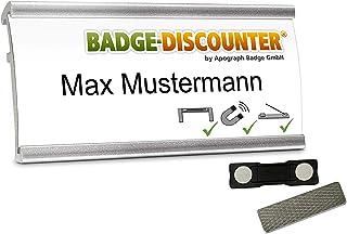 5 Badges porte-nom a personnaliser NMSG badge identité aimanté personnalisable clip, épingle, aimant double badge nominati...