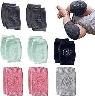 NEPAK 8 Pairs Baby Crawling Anti-Slip Knee Baby Knee Pads For Crawling and safety Walking Anti Slip,Unisex Baby Toddlers Kneepads,Learn to Socks Children Short Kneepads