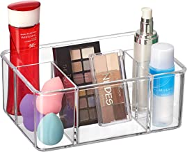 Amazing Abby - Glamour - Acrylic 5-Compartment Makeup Organizer, Transparent Plastic Beauty Supply Holder, Perfect Bathroo...