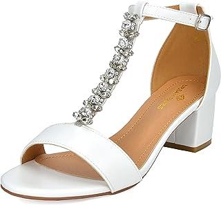 a04015afe21 DREAM PAIRS Women s Mona Low Block Heel Dress Sandal Open Toe Ankle Strap  Pump Sandal