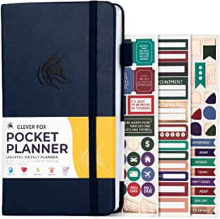 Clever Fox Pocket Planner Weekly – Monthly Goal Planner and Calendar for Increasing Productivity, Mini Planner Perfect for...