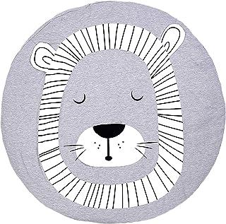 Baumwolle Krabbeldecke gro/ß und weich gepolstert 90 x 90cm f/ür Baby Kinder L/öwe