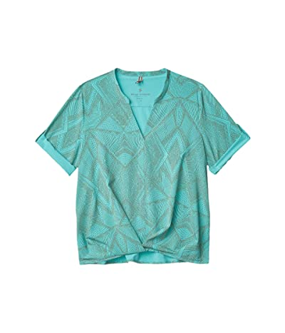 Royal Robbins Spotless Traveler Short Sleeve Top (Turquoise) Women