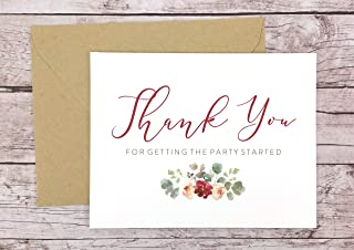 Thank You for Getting the Party Started Card, DJ Thank You Card, Wedding Vendor Thank You (FPS0066)
