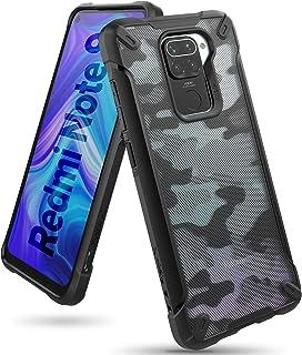 【Ringke】Xiaomi Redmi Note 9 ケース ストラップホール デザイン アーマー ケース [米軍MIL規格取得] クリア 透明 落下防止 スマホケース カバー Qi ワイヤレス充電対応 Fusion-X (Camo Blac...