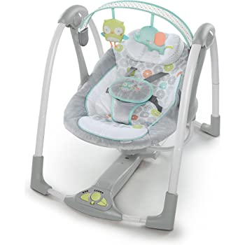 Ingenuity Swing 'n Go Portable Baby Swings - Hugs & Hoots