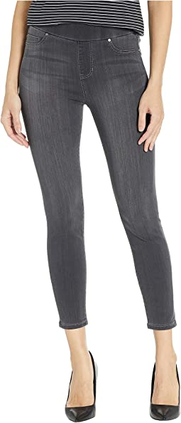 Petite Sienna Pull-On Leggings in Silky Soft Denim in Meteorite Wash