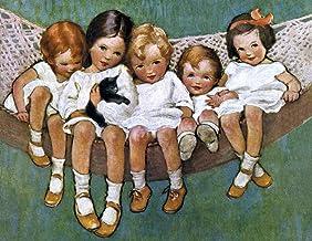 LITTLE GIRLS IN HAMMOCK