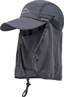 Unisex Baseball Cap UPF 50 Unstructured Hat with Foldable Long Large Bill