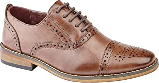 Goor Childrens Boys Capped Lace Oxford Brogue Shoes