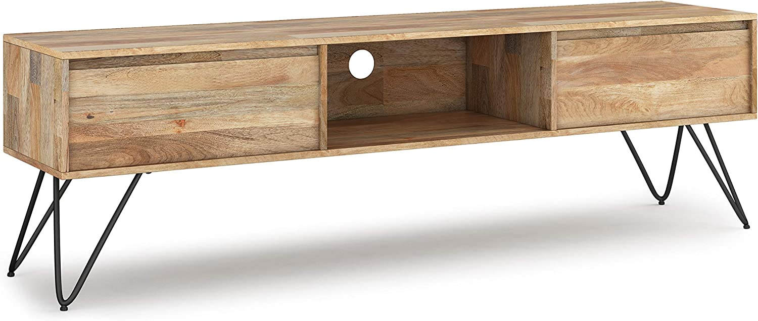 SIMPLIHOME Hunter SOLID Popular Raleigh Mall overseas MANGO WOOD Industrial 68 inch Conte Wide