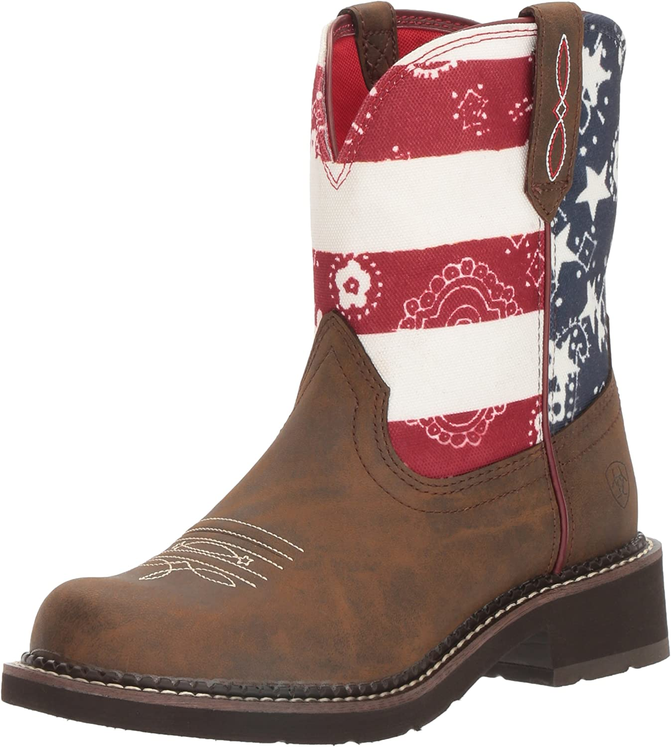 Ariat Women's Women's Fatbaby Heritage Western Cowboy Boot, Tooled Brown, 6 B US