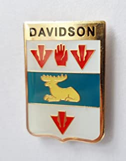 Davidson Surname Scottish Clan Name Coat of Arms Pin Badge