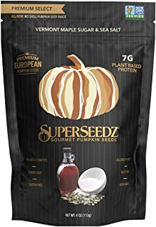 Sponsored Ad - PUMPKIN SEEDS: MAPLE SUGAR & SEA SALT | PREMIUM SELECT LINE BY SUPERSEEDZ | WHOLE 30 | VEGAN | KETO | 8G PL...