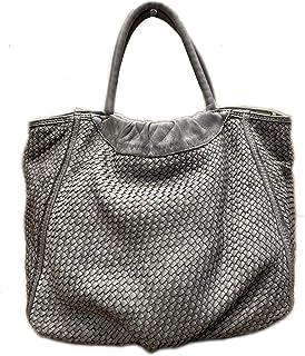 BZNA Bag Madita grau vintage Italy Designer Business Damen Handtasche Ledertasche Schultertasche Tasche Leder Shopper Neu