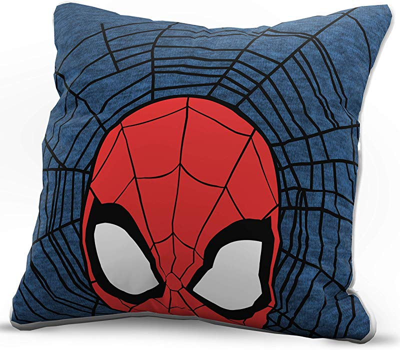 Jay Franco Marvel Spiderman Peeking Decorative Pillow Cover Kids Super Soft 1 Pack Throw Pillow Cover Measures 15 Inches X 15 Inches Official Marvel Product