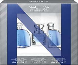 Nautica Eau de Toilette Gift Set, Nautica Blue/Voyage/Voyage Sport, 0.5 Ounce, Pack of 3, Total Retail Value $40.00