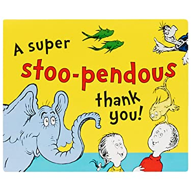 Birthday Express Dr. Seuss Thank You Notes, Set of 8