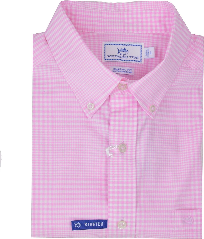 Southern Tide Home Men's Onshore Gingham Long Sleeves Shirt-FP-Large