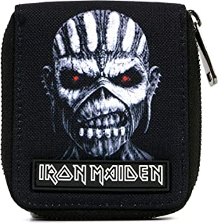 Iron Maiden Book of Souls Eddie Bi-Fold Zip Wallet,Black,One Size