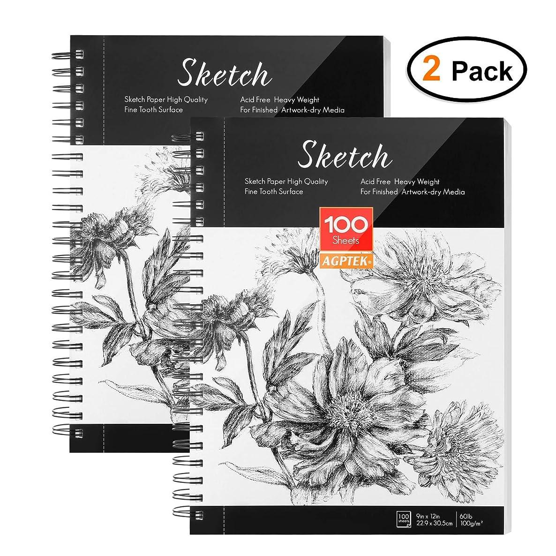 Sketch Book, AGPTEK Art Sketch Book 9''X12