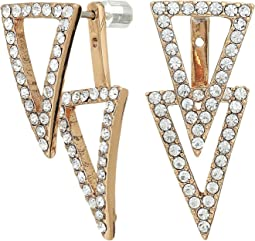 Vince Camuto Triangle Front Back Earrings