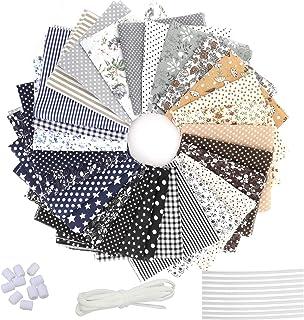 28 Piezas Tela de Algodón Patchwork, Tela de Estampada Flores de Costura de Material Textil Manualidades Retales Algodón c...