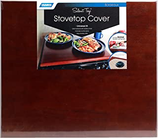 Camco 43526 Universal Silent Top Stovetop Cover (Bordeaux Finish)