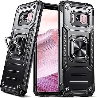 DASFOND Armor Hülle Kompatibel mit Samsung Galaxy S8 Plus/S8+ Militärische Stoßfest Case 15 Fuß Falltest Cover [Upgrade 2.0] 360 °Drehbarer Ständerhalter und Magnetischer Autohalter Handyhülle,Schwarz