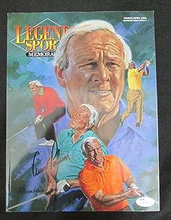 Arnold Palmer Golf Signed Legends Sports Memorbilia Magazine I72753 - JSA Certified - Autographed Golf Magazines