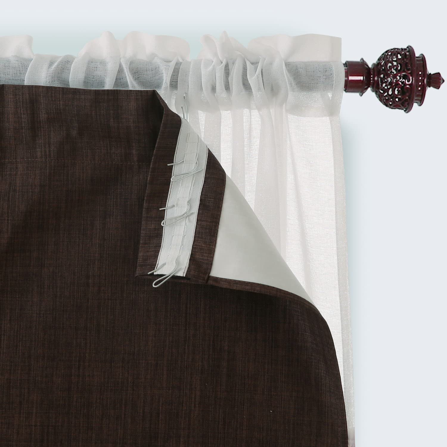 Deconovo Thermal Insulated Blackout Window Ranking TOP10 Purchase Tri Drapes Rod Pocket