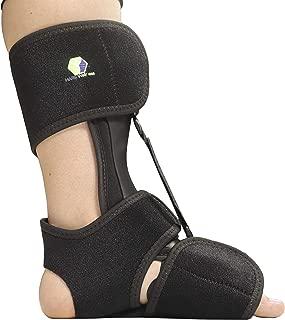 Comfort Dorsal Night Splint - Pain Relief from Plantar Fasciitis, Drop Foot, and Achilles Tendinitis - Large