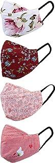 Amazon Brand - Eden & Ivy Women's Cotton Fashion Scarf (EI-WW-Mask4-P5_Multi3_Free Size)
