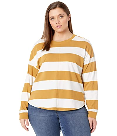 Madewell Plus Size Delancey Long Sleeve Tee in Stripe