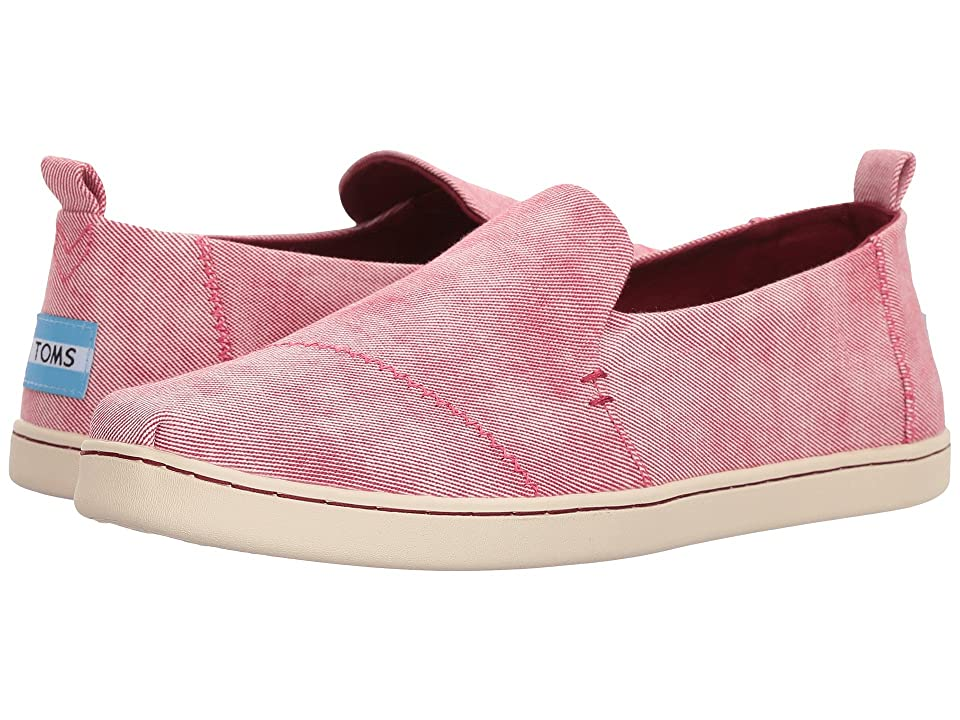 TOMS Deconstructed Alpargata (Henna Red Washed Twill) Women