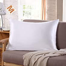 Tim & Tina 22 Momme 100% Pure Mulberry Luxury Silk Pillowcase, Good for Skin and Hair, Facial Beauty (Toddler/Travel, White)