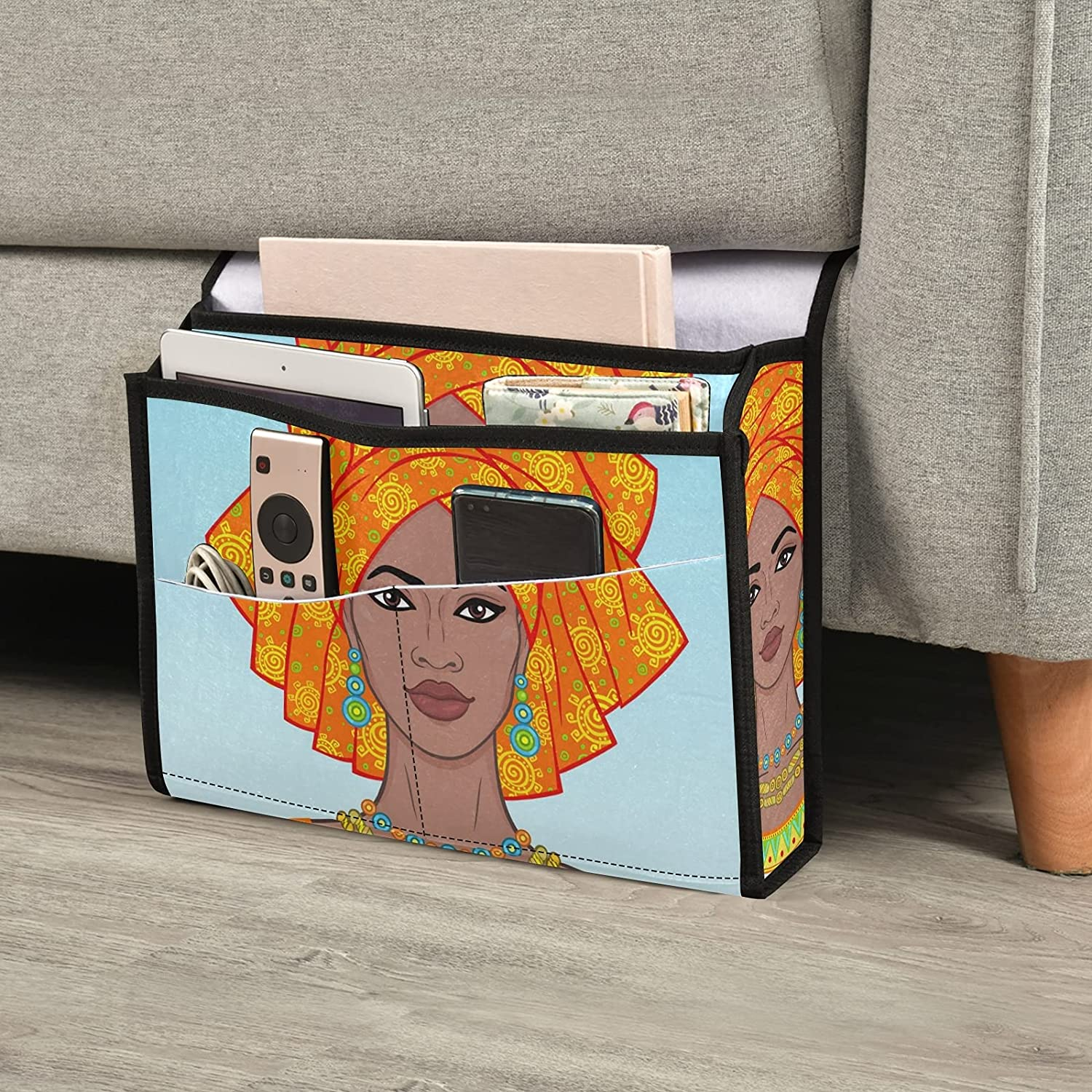 Max 52% OFF Black Woman Bedside Caddy Storage Table Bed Organizer Gifts Ca
