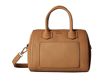Furla Alba Small Satchel (Caramello) Handbags
