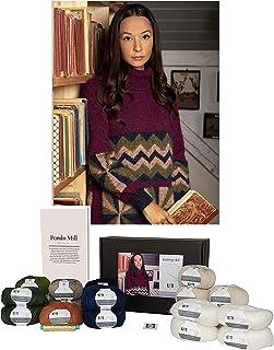 DesignEtte Kit Pondo Mill Patron de tricot en laine mérinos et mohair Superkid L/XL-2XL/3XL en blanc multicolore No-S-2818...
