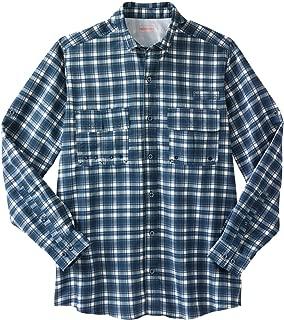 Boulder Creek Men's Big & Tall Off-Shore Long-Sleeve Sport Shirt