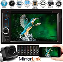 $106 » Double DinCar Radio Stereo with Backup Cam for Chevy Express 1500 2500 3500 2003-2015,CD DVD Player Mirror Link Bluetooth Hands-Free Calling AM FM 6.2inch Touchscreen MP3 USB Subwoofer