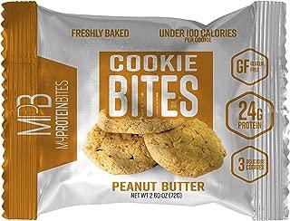 My Protein Bites   Protein Cookies   24 Grams Of Protein, Low Carbs & Low Sugar   Gluten Free   (8 Packs of 3 Cookies (24 Cookies) Peanut Butter)