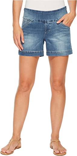 "Ainsley Pull-On 5"" Denim Shorts in Horizon Blue"